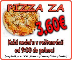 Pizza za 3,20€